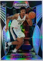 2019-20 Panini Prizm Draft Picks Silver Brandon Clarke Rookie RC #20, Grizzlies