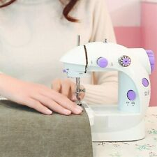 Portable Desktop Mini Electric Sewing Machine Hand Held Household Tailor 2 Speed