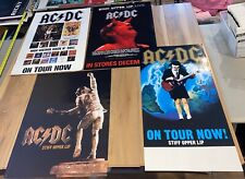 LOT OF 4 AC/DC PROMO POSTERS Angus Young ON TOUR POSTERS RARE 24X18
