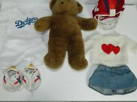 """Build A Bear Brown Teddy Bear Plush Vintage 16"""" Accessories and Clothing"""