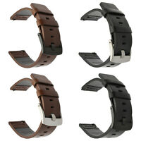 Genuine Leather Watch Band Wrist Strap Armband Quick Release 18mm 20mm 22mm 24mm