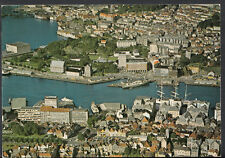 Norway Postcard - Bergen - Aerial View of The Harbour Area Vagen B2295