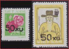 VIETNAM N°512B/C** TIMBRES DE 1980 SURCHARGES 1984 , Vietnam 1385-1386 MNH