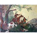 Grande peinture sur toile art Naif SICARD 1969
