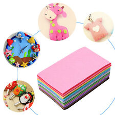 40Pcs Mixed Color Soft Nonwoven Felt Fabric Sheets 10x15cm DIY Craft Patchwork