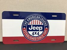 Vintage JEEP wrangler license Plate Reproduction