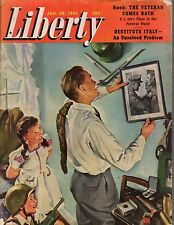 1945 Liberty January 20 - Reindeer meat for the soldiers; Italy is destitute;