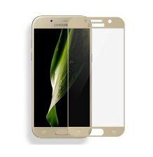 Samsung Galaxy A3 2017 FULL SCREEN COVER 3D Panzerfolie Gold TOP TC2K Panzerglas