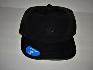 Adidas Men's Originals Repeat Strapback Hat / Cap Relaxed Black Trefoil CK3068