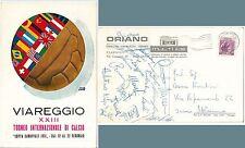 CALCIO: SQUADRA Juniors AC MILAN 1971 AUTOGRAFI su CARTOLINA - VIAREGGIO Bonelli