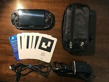 Sony Playstation PS Vita Black Great Condition! 8 GB PCH1101 Rarely Used!