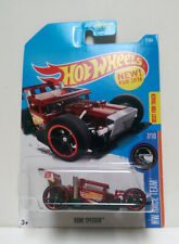 2016 Hot Wheels #7 BONE SPEEDER HW Race Team 7/10 Racing Car Red BEST FOR TRACK