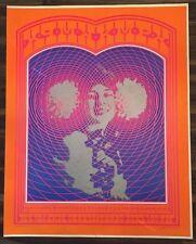 Original 1967 Neon Rose # 20 KMPX Radio Untrimmed POSTER Moscoso