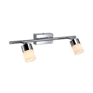 Pecan 2 Light Spot Bar Chrome Wall/Ceiling Light Fitting
