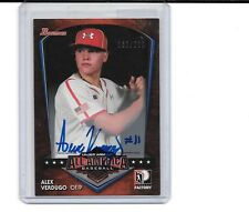 2015 BOWMAN DRAFT ALEX VERDUGO RC AUTO UNDER ARMOUR AUTOGRAPH # 167/220 DODGERS