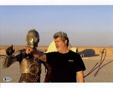 GEORGE LUCAS SIGNED 11x14 PHOTO STAR WARS CREATOR DIRECTOR LEGEND BECKETT BAS