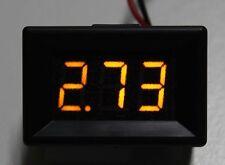 Pantalla LED Digital Amarillo 3 voltios Voltaje Voltímetro Coche DC 2.4-30V chip de 200