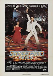 SATURDAY NIGHT FEVER 1977 John Travolta - Movie Cinema Poster Art Print Ver. 2