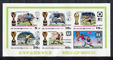 s5325) KOREA 1978 MNH** WC Football'78 - CM Calcio S/S WINNERS IMPERF