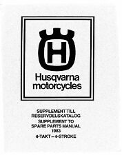 Husqvarna Parts Manual Book 1983 4 Stroke 500 TC, 510 TX, 510 TE for USA and EU.