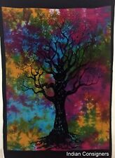 Indian Dry Tree Poster Hippie Tie-Dye Wall Hanging Textile Cotton Small Tapestry