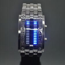 reloj pulsera binario led