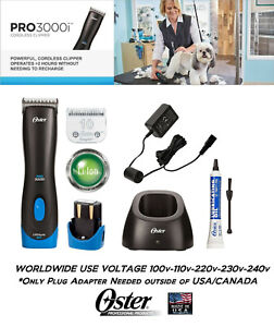 Oster PRO 3000i Lithium Ion Rechargeable Cordless CLIPPER SET,#10 BLADE,BATTERY