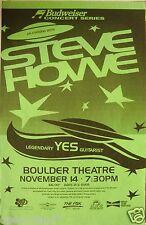STEVE HOWE 1996 DENVER CONCERT TOUR POSTER-Legendary Yes Guitarist,UFO's & Stars