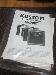 Kustom '66 Dart Owners Manual
