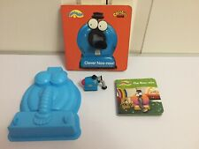 Teletubbies Mini Rolling Noo-noo Jelly/Sand Mould Clever Noo-noo Board Book VGC