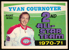 1971 72 OPC O PEE CHEE #260 YVAN COURNOYER NM MONTREAL CANADIENS HOCKEY CARD