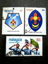 Malaysia 1974 Scout Jamboree Complete Set - 3v Used #3
