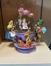 New ListingAlice In Wonderland Teacup Snow Globe Mad Hatter Walt Disney World Park New!
