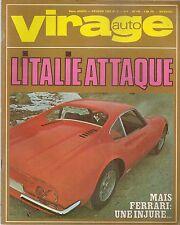 VIRAGE AUTO 1968 2 ESSAI FIAT DINO COUPE 2000 & SPIDER 2000 FIAT 124 FIAT 125
