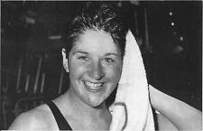 1956 MELBOURNE OLYMPICS 'PASTCARDS'~Dawn Fraser 100metres Freestyle World Record