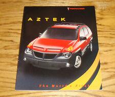 Original 2001 Pontiac Aztek Sales Brochure 01 GT