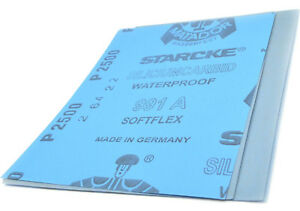Sandpaper Wet Dry 5x Sheets 2500 Grit Furniture Finishing Metal Polishing. 075
