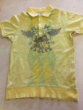 RINGSPUN Mens Yellow Osaka Koyoku 7 Eagles Short Sleeve polo shirt  Large Cotton