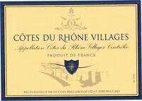 Etiquette de vin - Côtes du Rhône Village