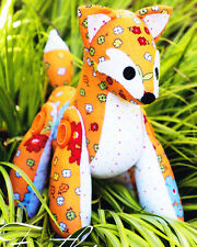 PATTERN - Feather the Fox - cute softie/toy PATTERN by Melly and Me