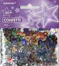 1 PACK 30TH BIRTHDAY CONFETTI /  TABLE SPRINKLES MULTI COLOURS TABLE DECORATIONS
