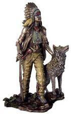 11.5 Inch Indian with Hunting Companion Figurine American Warrior Indio Native