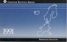 CHRYSLER   DAYTONA  SHELBY   Betriebsanleitung 1991  BA