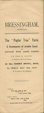 BRESSINGHAM : 1919 Poplar Tree Farm -sale particulars