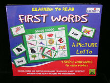 First Word Picture Lotto Game Preschool Learn To Read Educational