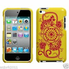 Apple iPod Touch 4 Snap-On Hard Case Cover Accessory Exotic Yellow