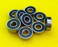 20 PCS - MR115-2RS (5x11x4 mm) Rubber Sealed Ball Bearing Bearings BLACK MR115RS