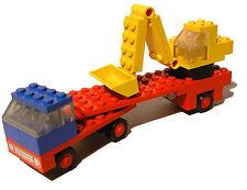 Lego® 649 Tieflader mit Bagger, vintage, 70er Low loader with excavator