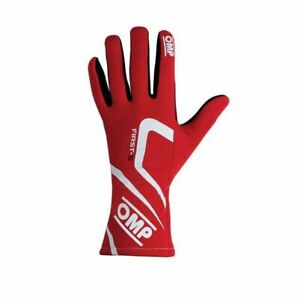 OMP Racing IB761ERL First-S Gloves Red Size Large NEW