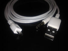 3.5MM Coche Aux Audio Micro USB Cable 4 Samsung Galaxy S3 S2 Nota HTC Sony UK